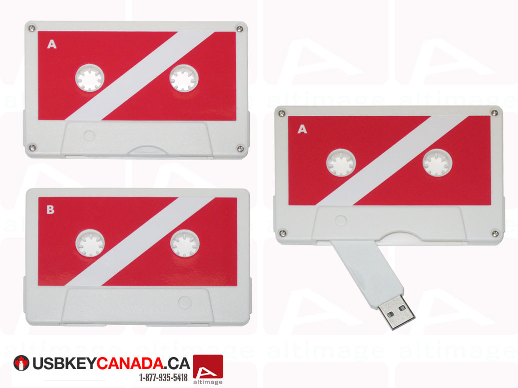 Custom usb key tape