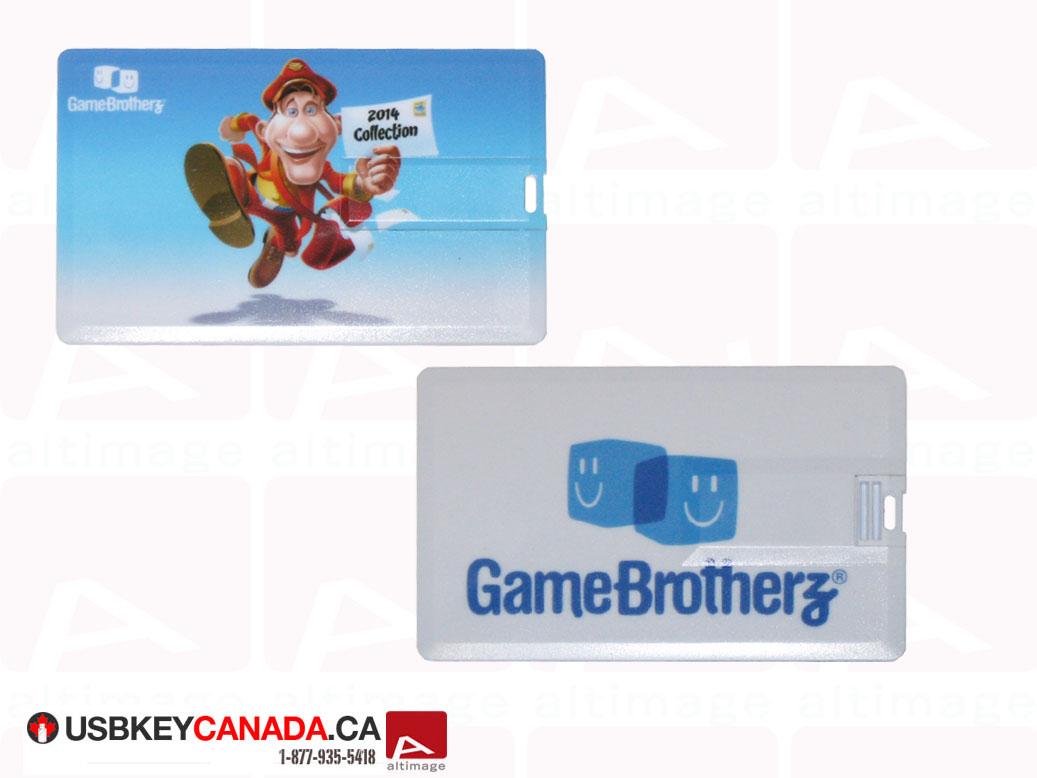 Plastic usb card Game Brotherz custom