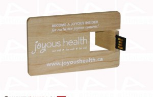 Custom usb card light wood
