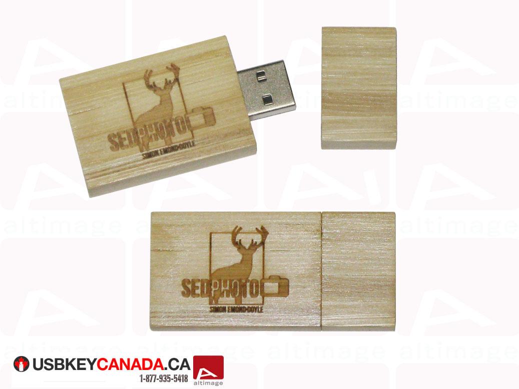 Custom usb key light wood