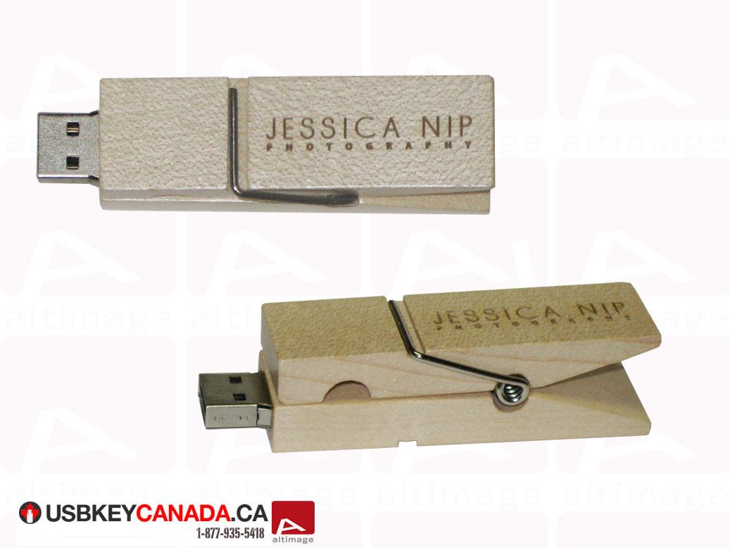 custom clothespin usb key