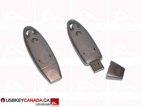 Custom Silver Flash Drive