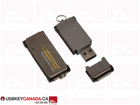 Custom metal and plastic Flash Drive
