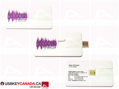 Custom USB Card plastic white